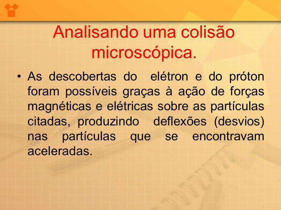 Analisando uma colisão microscópica.