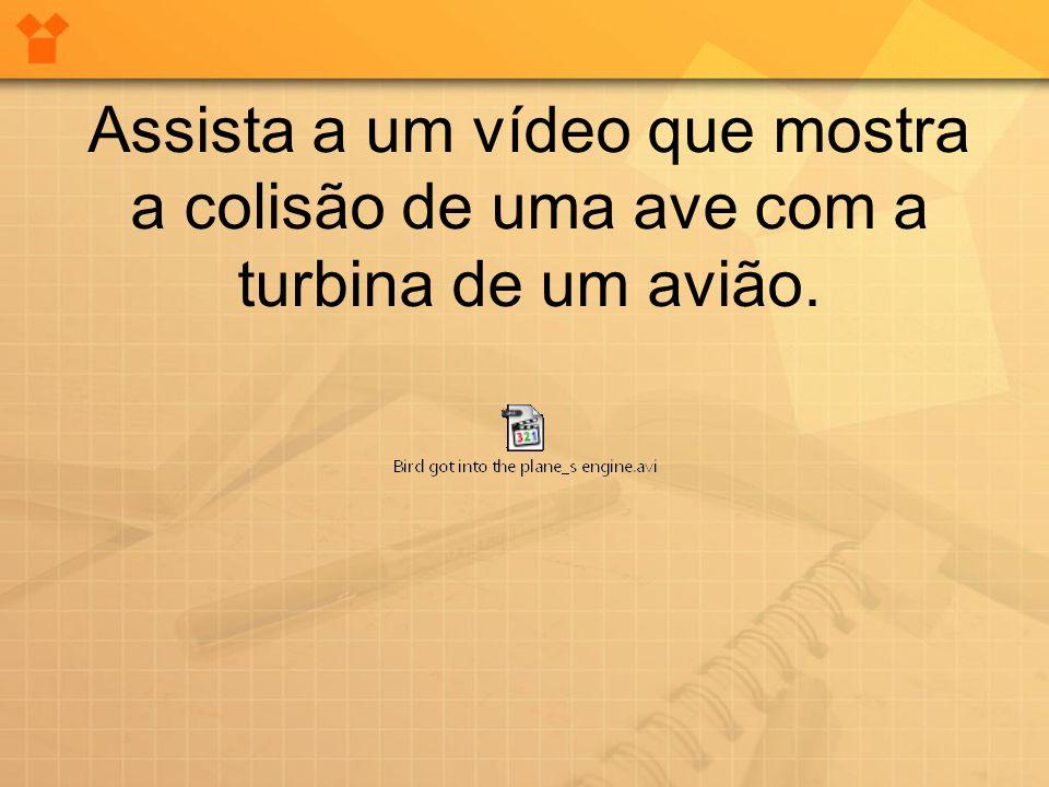 Assista a um vídeo que mostra a colisão de uma ave com a turbina de um avião.