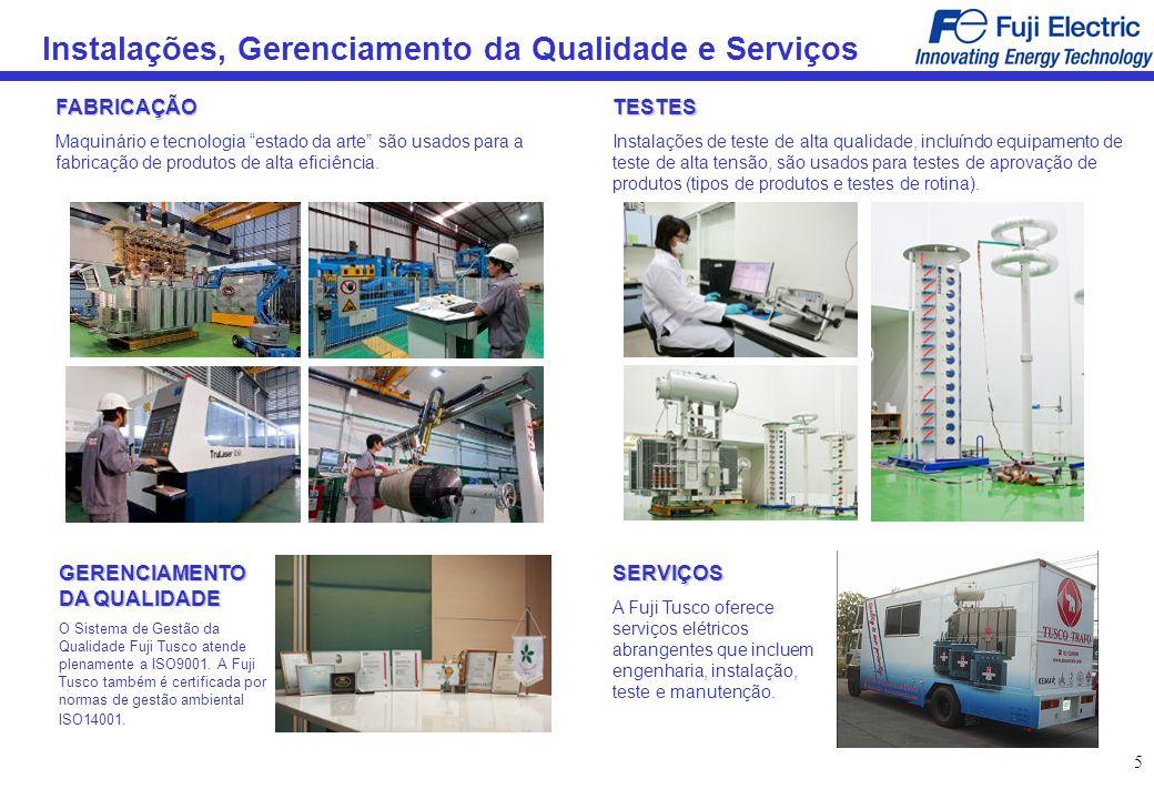 Instalações, Gerenciamento da Qualidade e Serviços