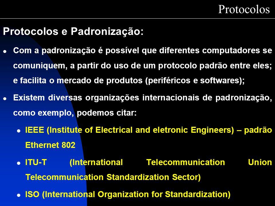 Protocolos Protocolos e Padronização: