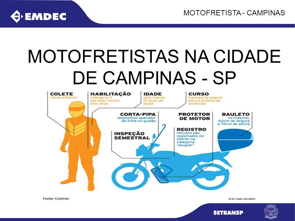 MOTOFRETISTAS NA CIDADE DE CAMPINAS - SP