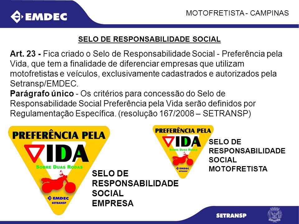 SELO DE RESPONSABILIDADE SOCIAL