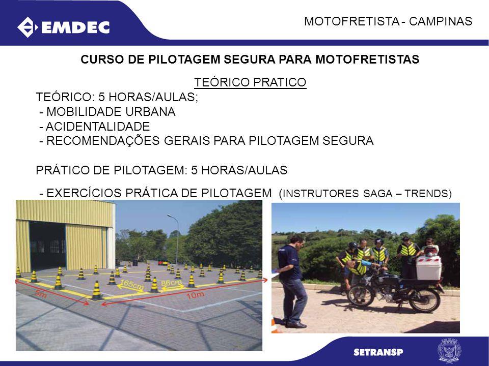 CURSO DE PILOTAGEM SEGURA PARA MOTOFRETISTAS