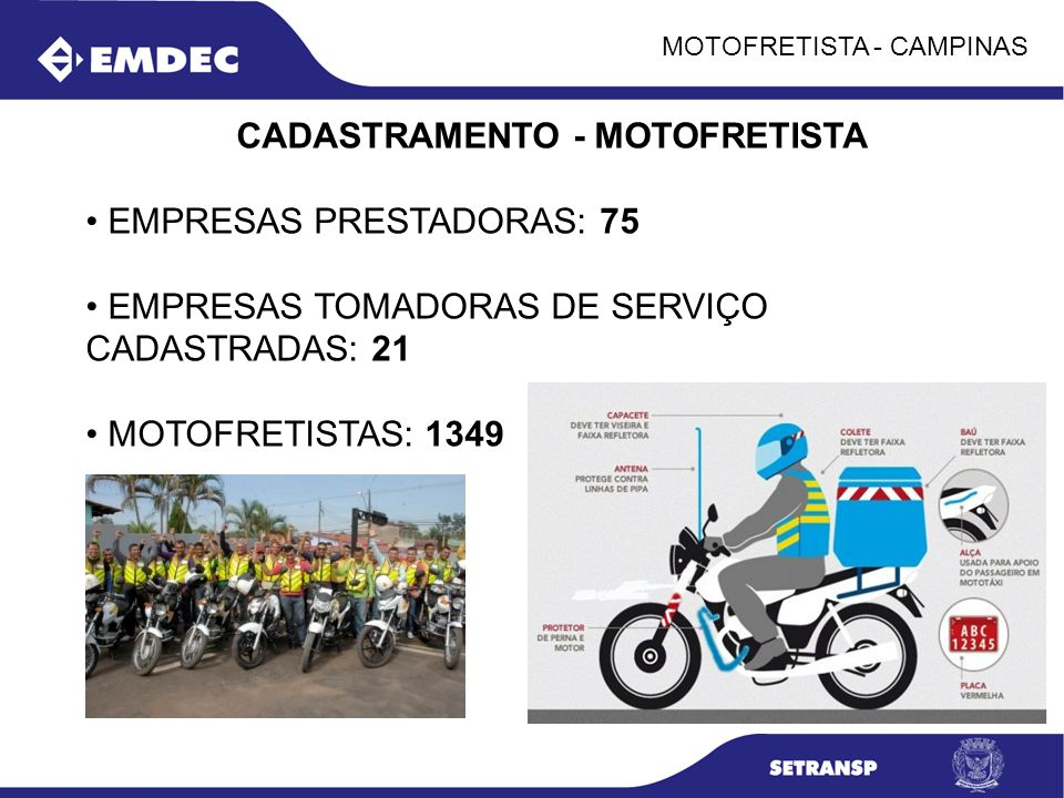 CADASTRAMENTO - MOTOFRETISTA