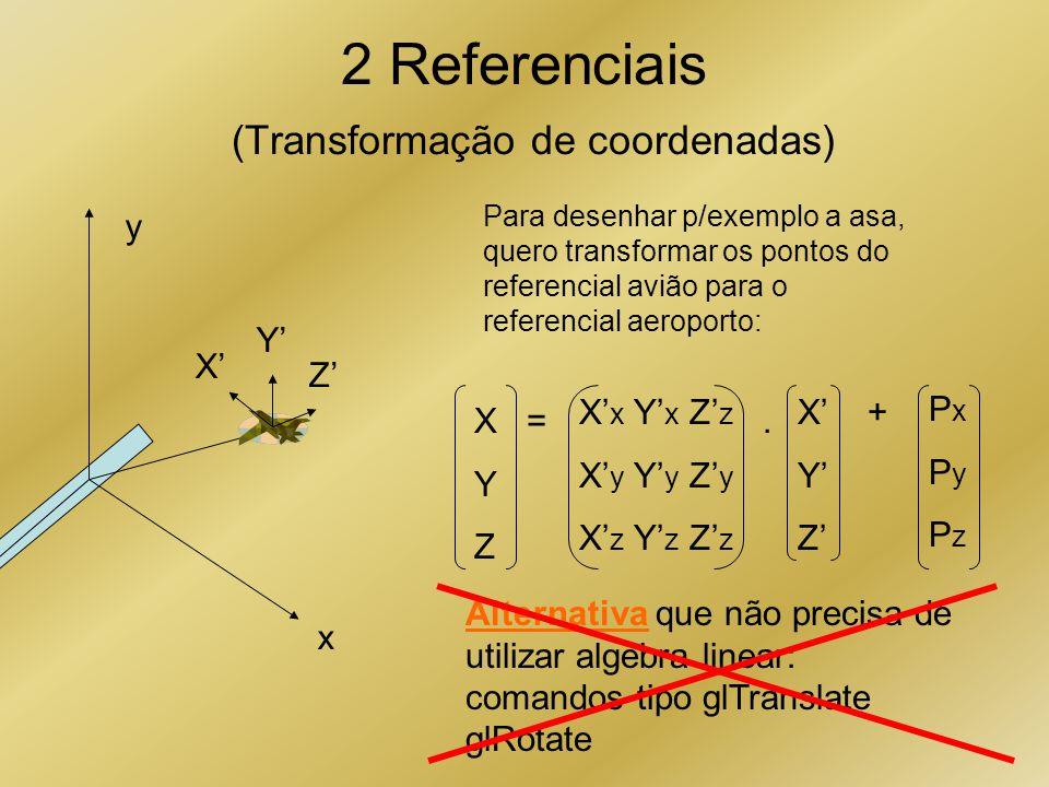 2 Referenciais (Transformação de coordenadas)