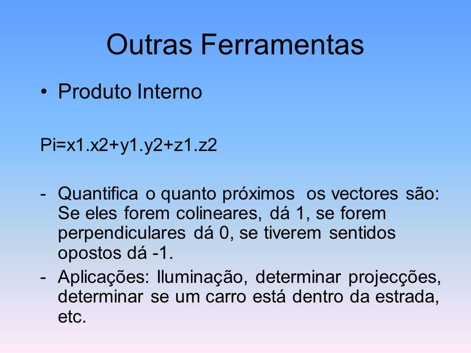 Outras Ferramentas Produto Interno Pi=x1.x2+y1.y2+z1.z2