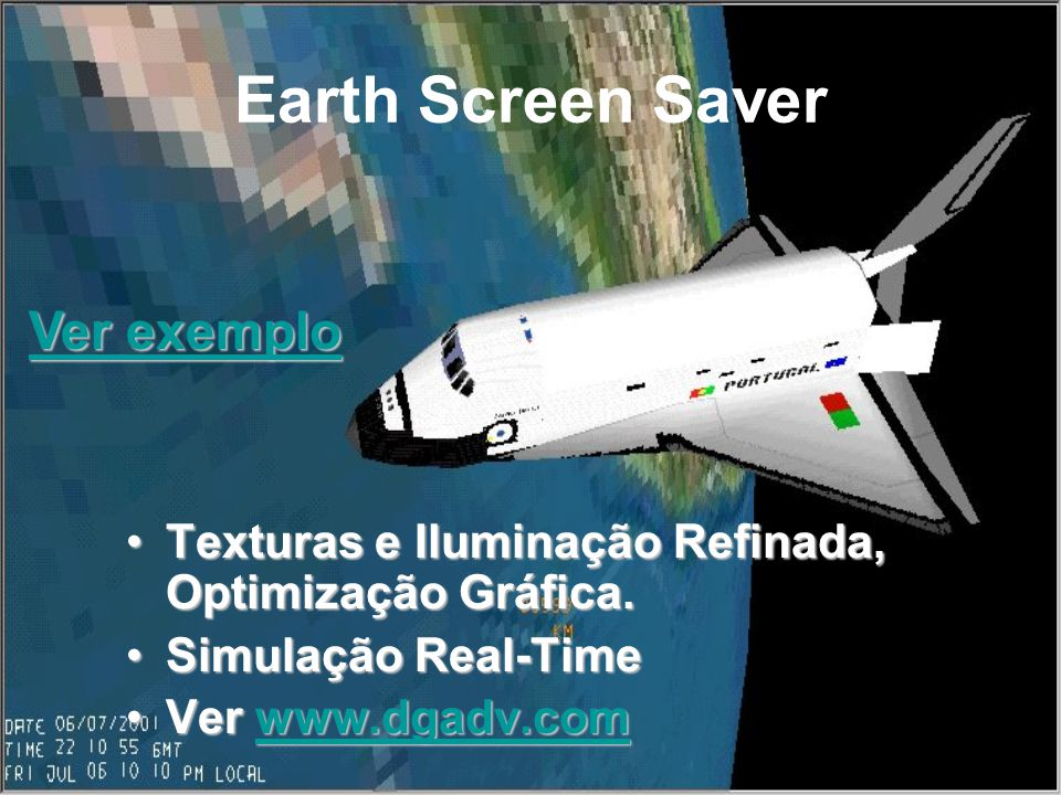 Earth Screen Saver Ver exemplo