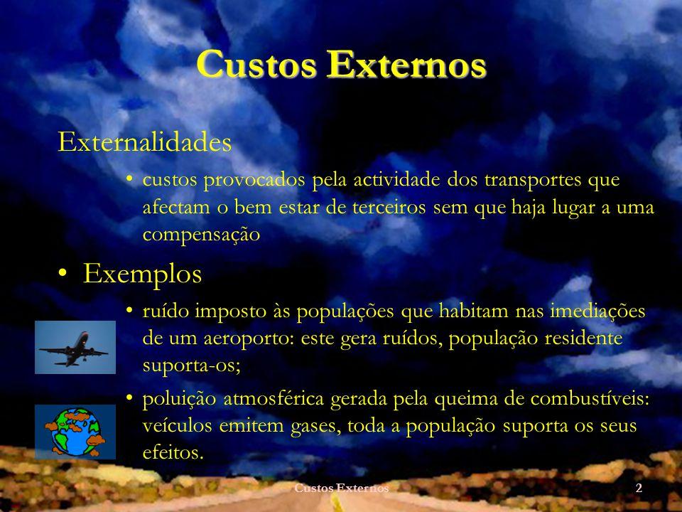 Custos Externos Externalidades Exemplos