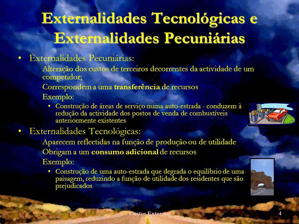 Externalidades Tecnológicas e Externalidades Pecuniárias