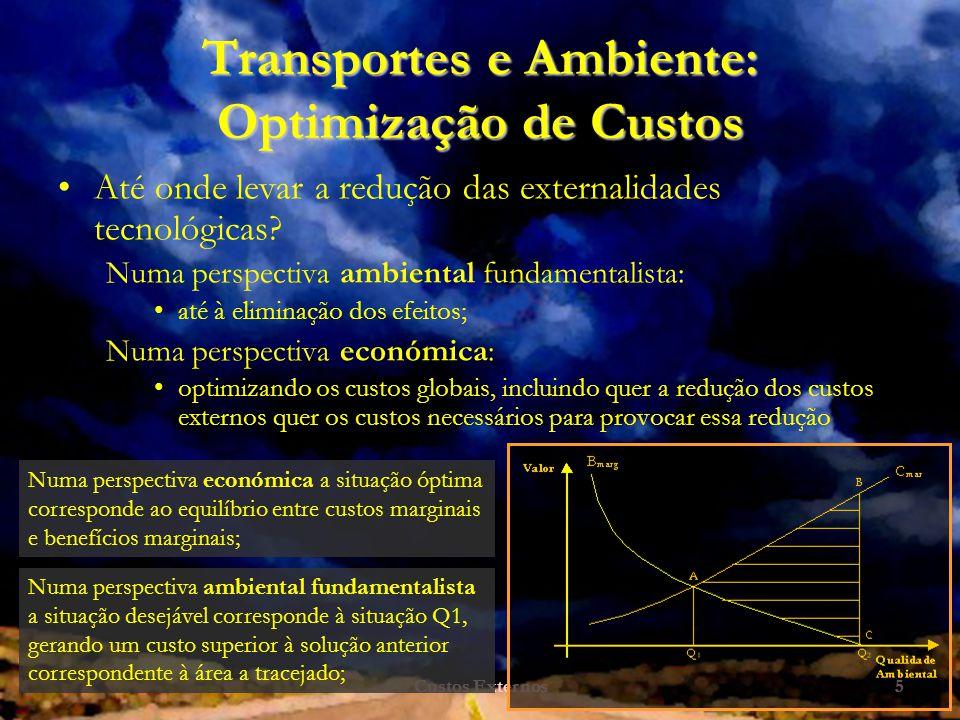 Transportes e Ambiente: Optimização de Custos