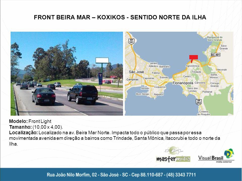 FRONT BEIRA MAR – KOXIKOS - SENTIDO NORTE DA ILHA