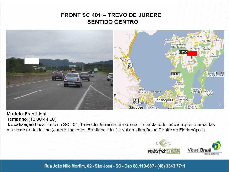 FRONT SC 401 – TREVO DE JURERE SENTIDO CENTRO