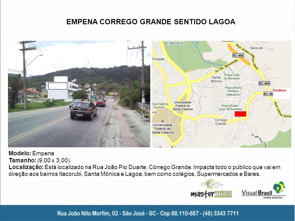 EMPENA CORREGO GRANDE SENTIDO LAGOA