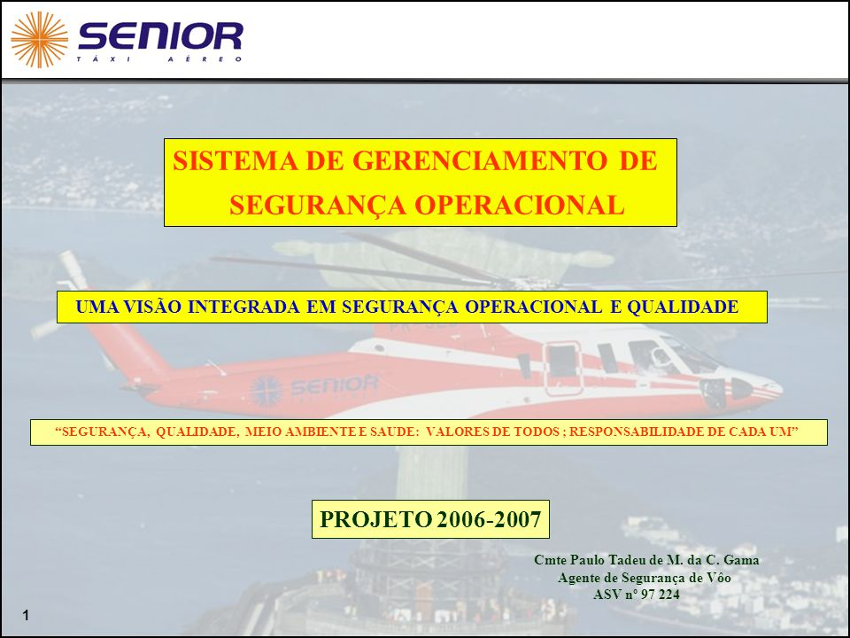 SISTEMA DE GERENCIAMENTO DE SEGURANÇA OPERACIONAL