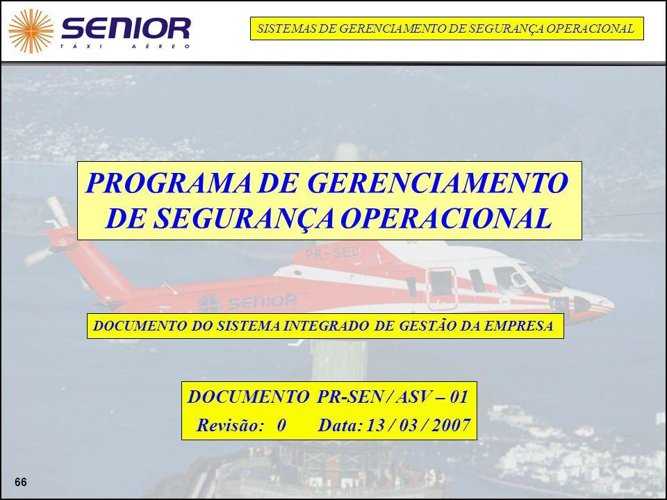 PROGRAMA DE GERENCIAMENTO DE SEGURANÇA OPERACIONAL
