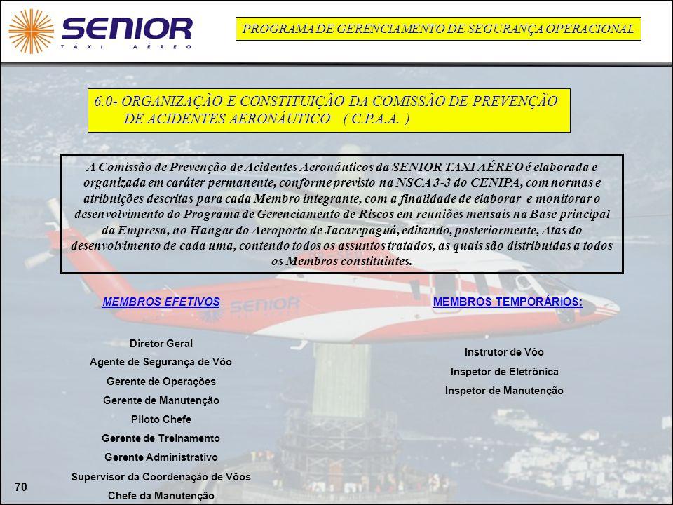 6.0- ORGANIZAÇÃO E CONSTITUIÇÃO DA COMISSÃO DE PREVENÇÃO