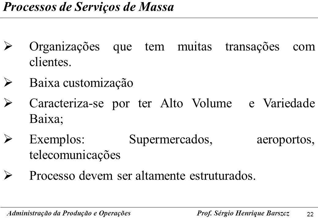 Processos de Serviços de Massa