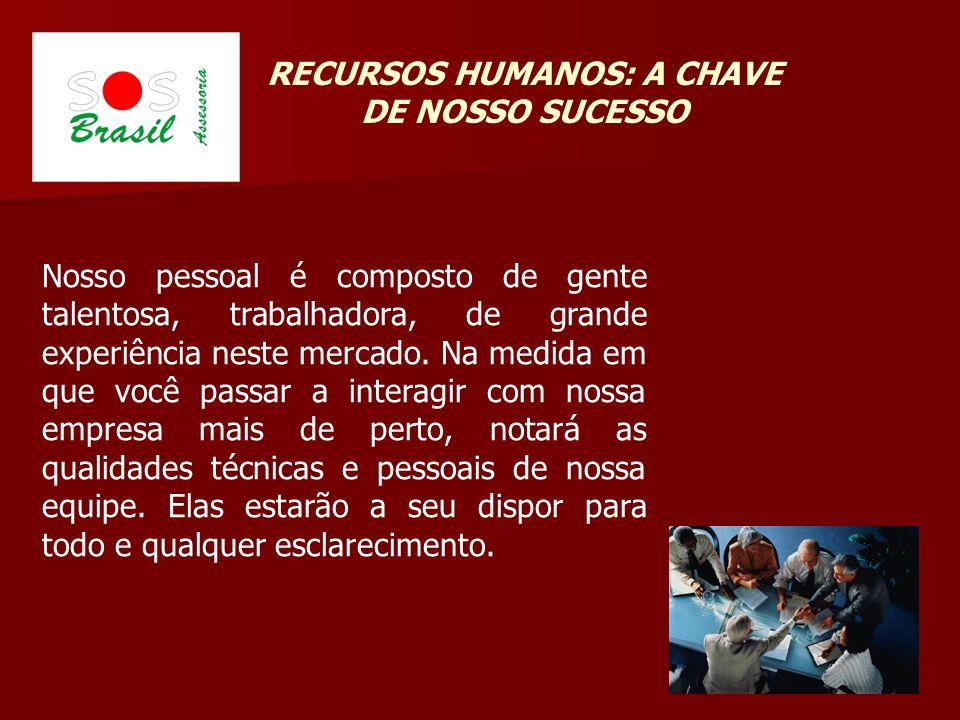 RECURSOS HUMANOS: A CHAVE DE NOSSO SUCESSO