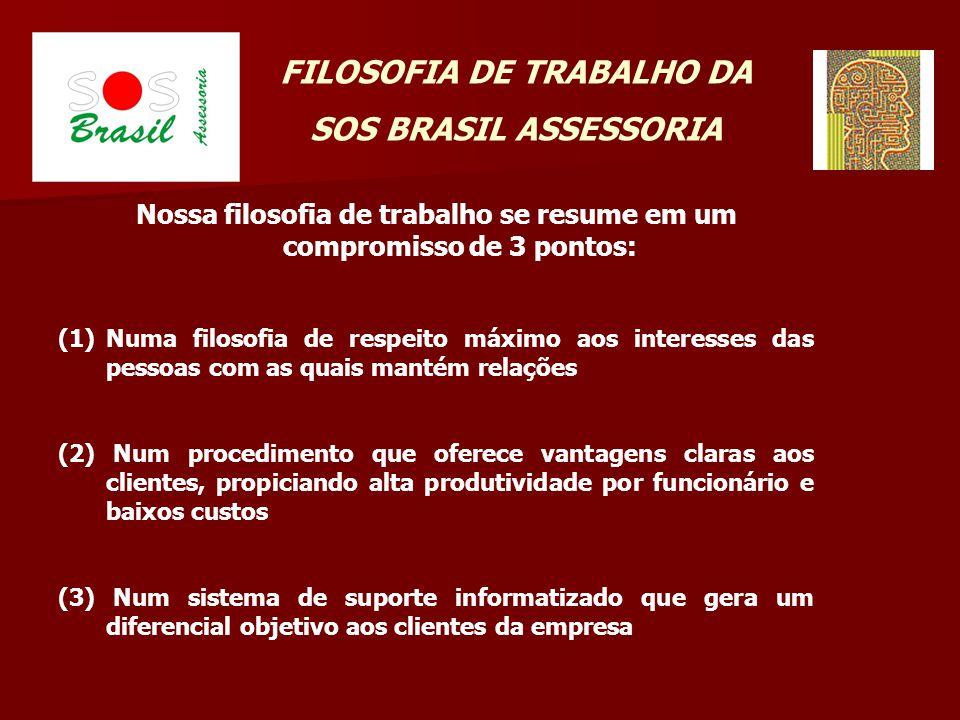 FILOSOFIA DE TRABALHO DA SOS BRASIL ASSESSORIA