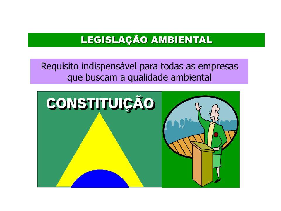 LEGISLAÇÃO AMBIENTAL Requisito indispensável para todas as empresas que buscam a qualidade ambiental.