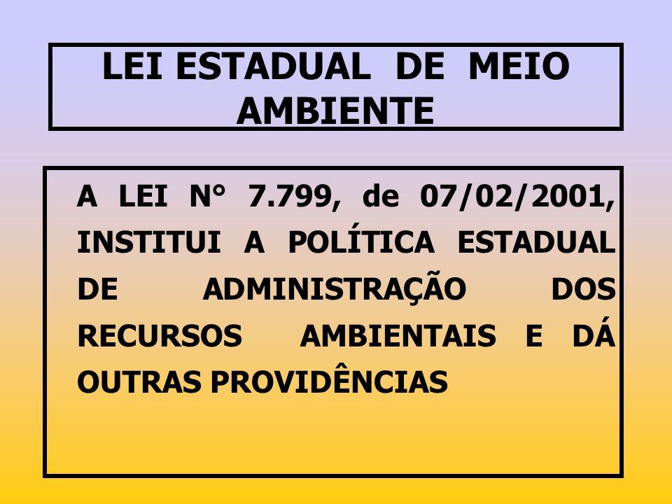 LEI ESTADUAL DE MEIO AMBIENTE