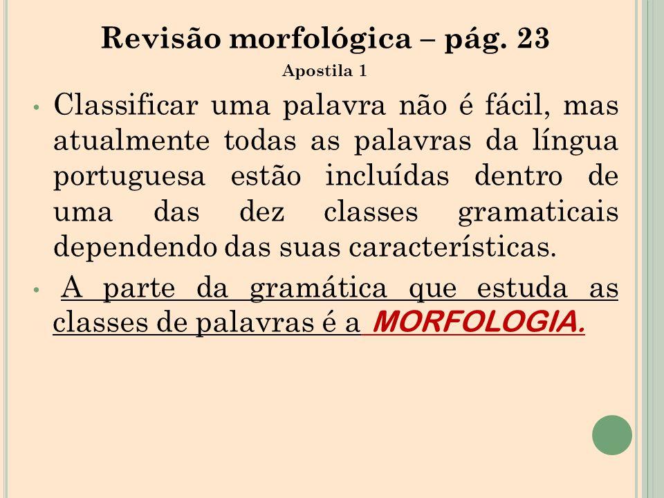 Revisão morfológica – pág. 23