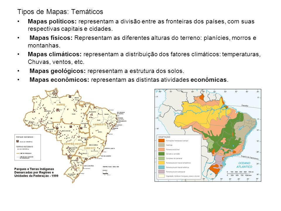 Tipos de Mapas: Temáticos