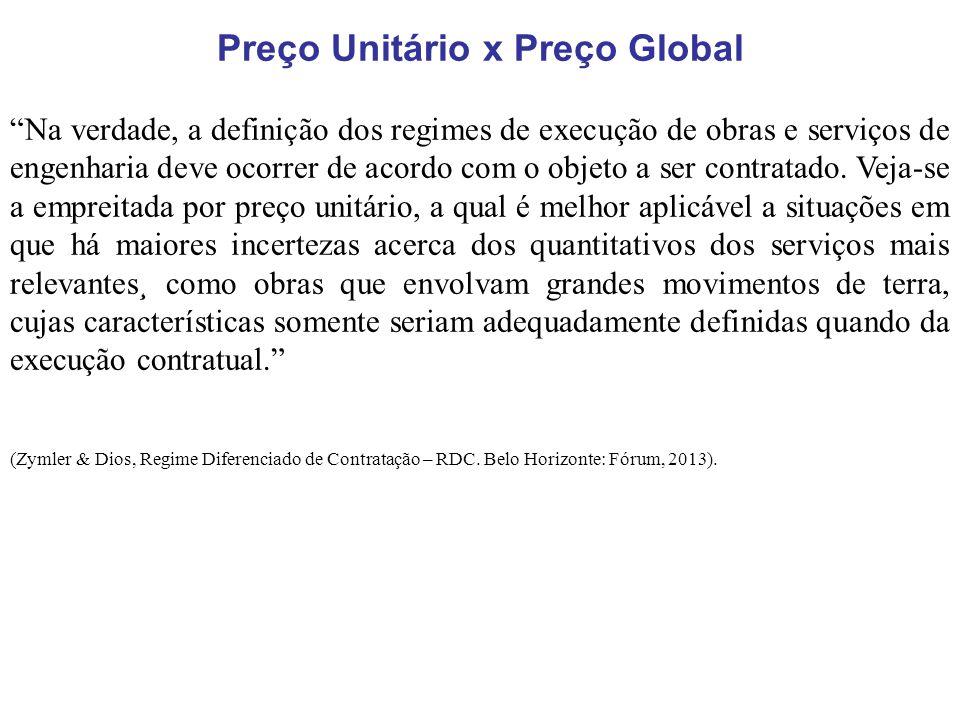 Preço Unitário x Preço Global