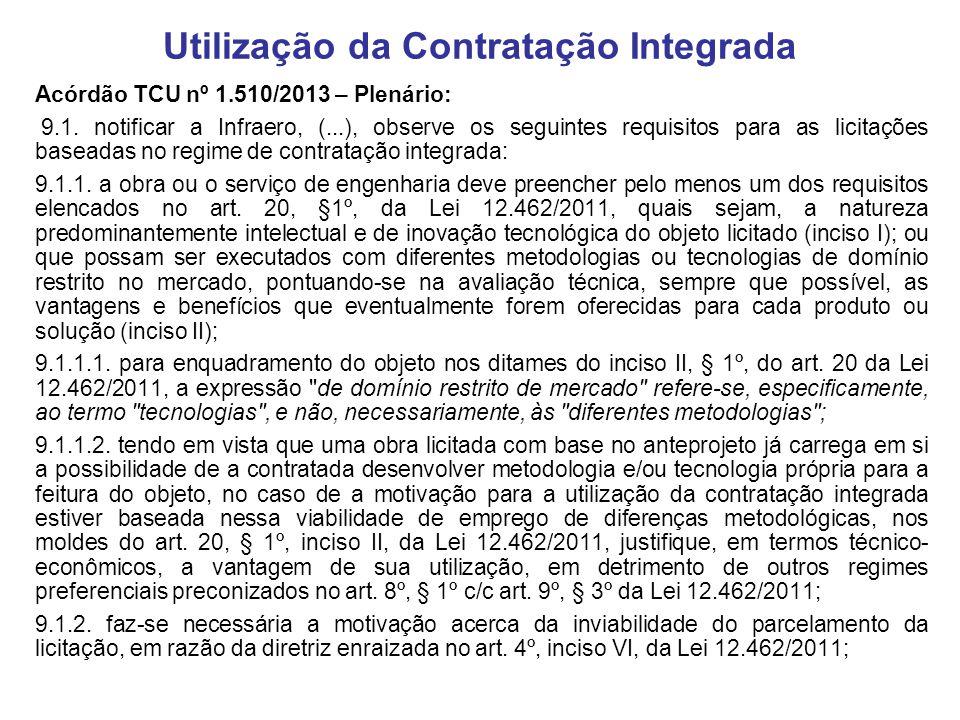 Utilização da Contratação Integrada