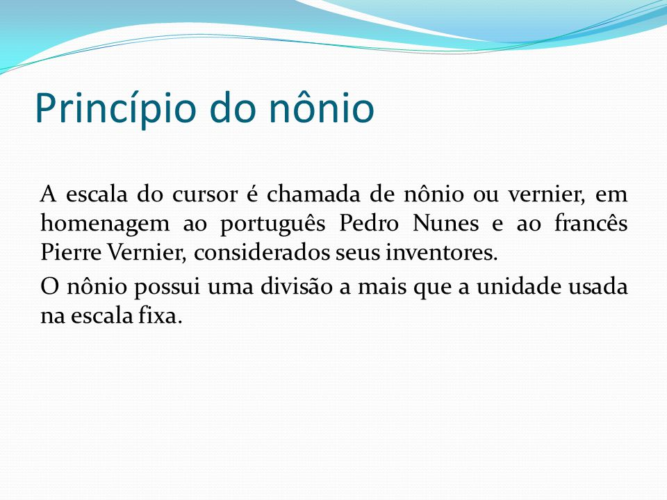 Princípio do nônio