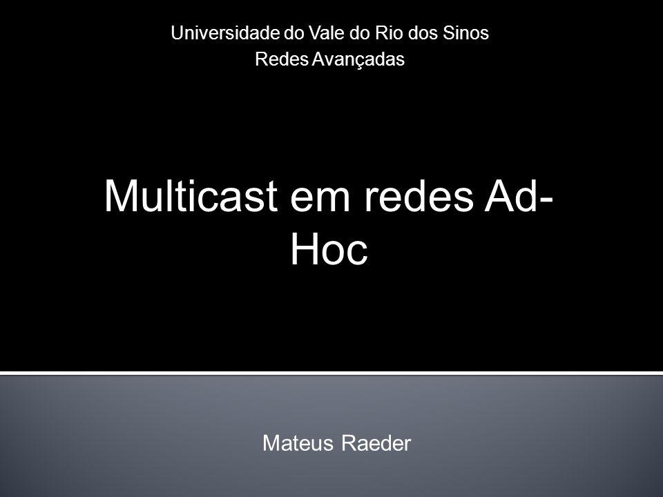 Multicast em redes Ad-Hoc
