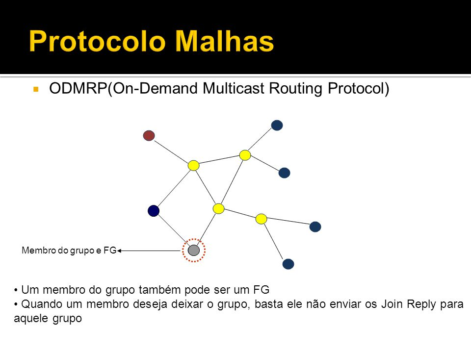 Protocolo Malhas ODMRP(On-Demand Multicast Routing Protocol)