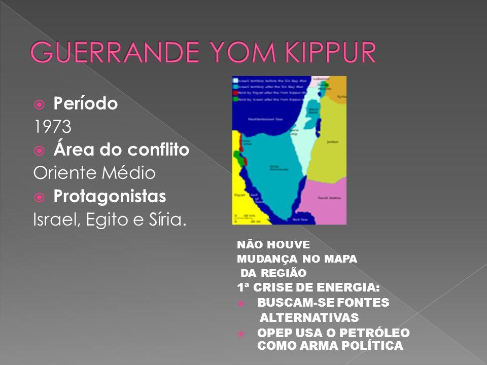 GUERRANDE YOM KIPPUR Período 1973 Área do conflito Oriente Médio