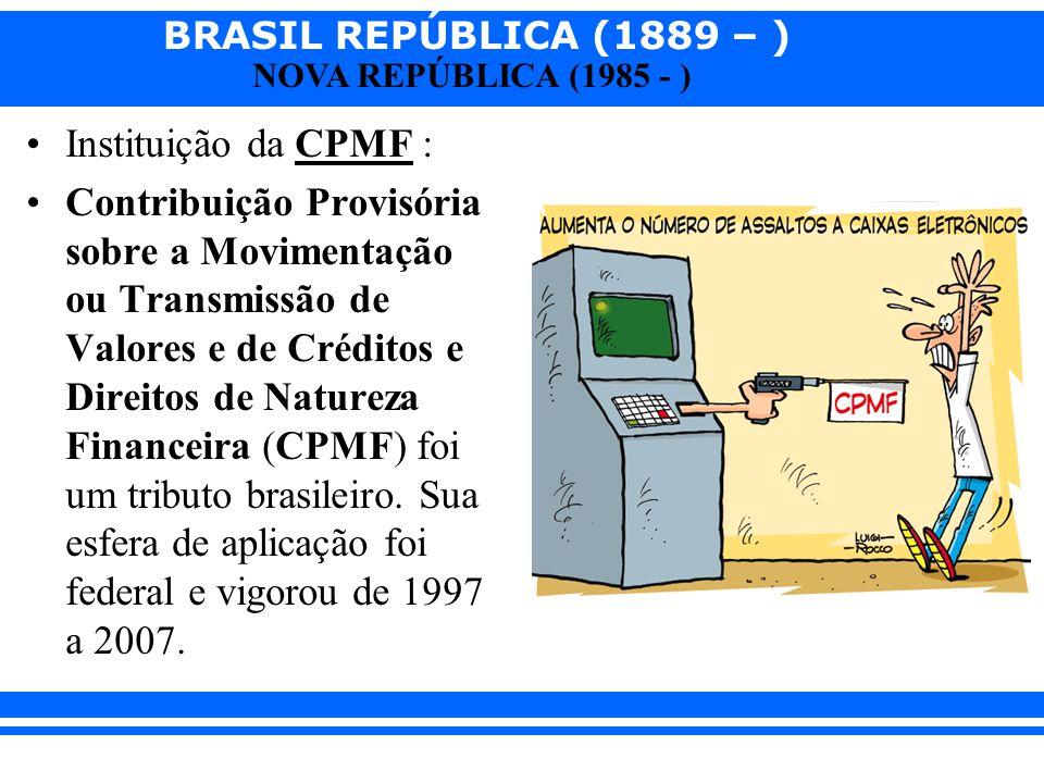 Instituição da CPMF :