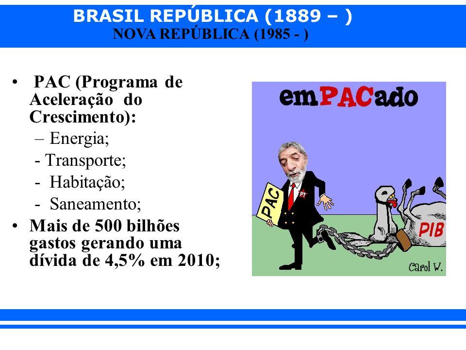 PAC (Programa de Aceleração do Crescimento):