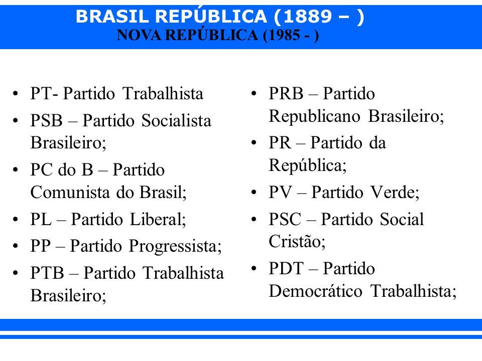 PT- Partido Trabalhista