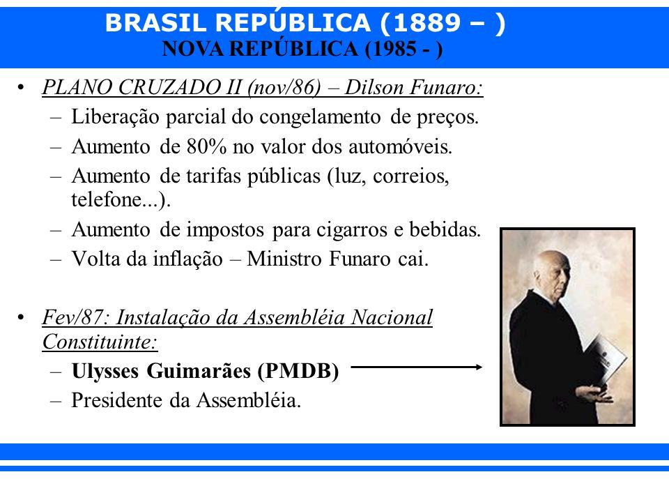 PLANO CRUZADO II (nov/86) – Dilson Funaro: