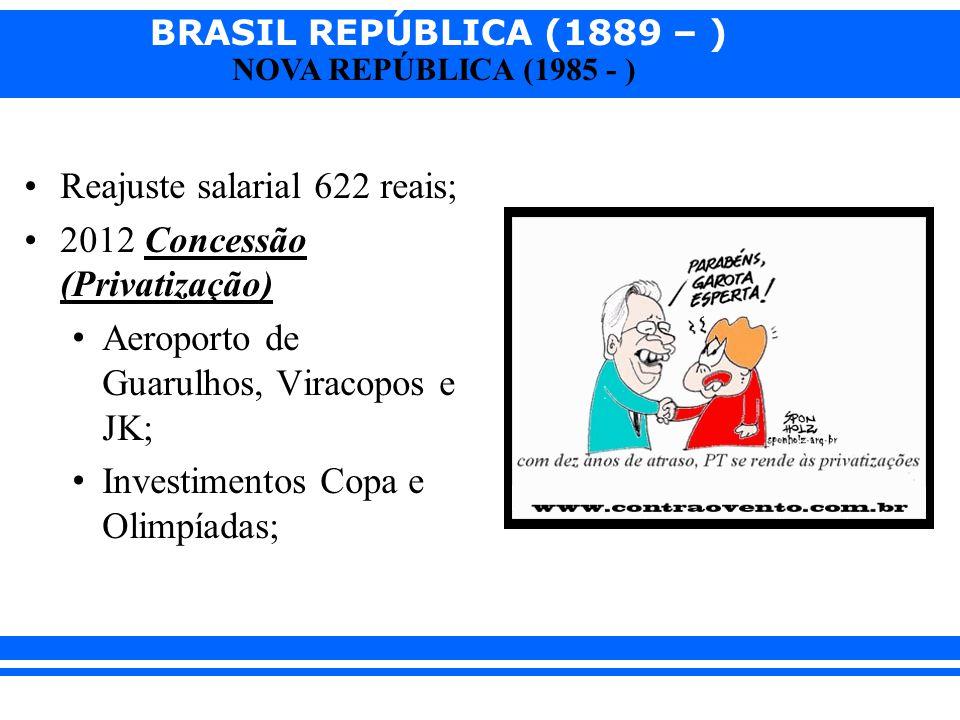 Reajuste salarial 622 reais;