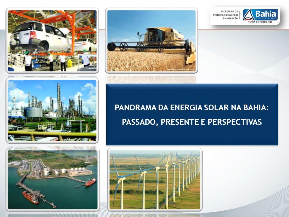 PANORAMA DA ENERGIA SOLAR NA BAHIA: PASSADO, PRESENTE E PERSPECTIVAS