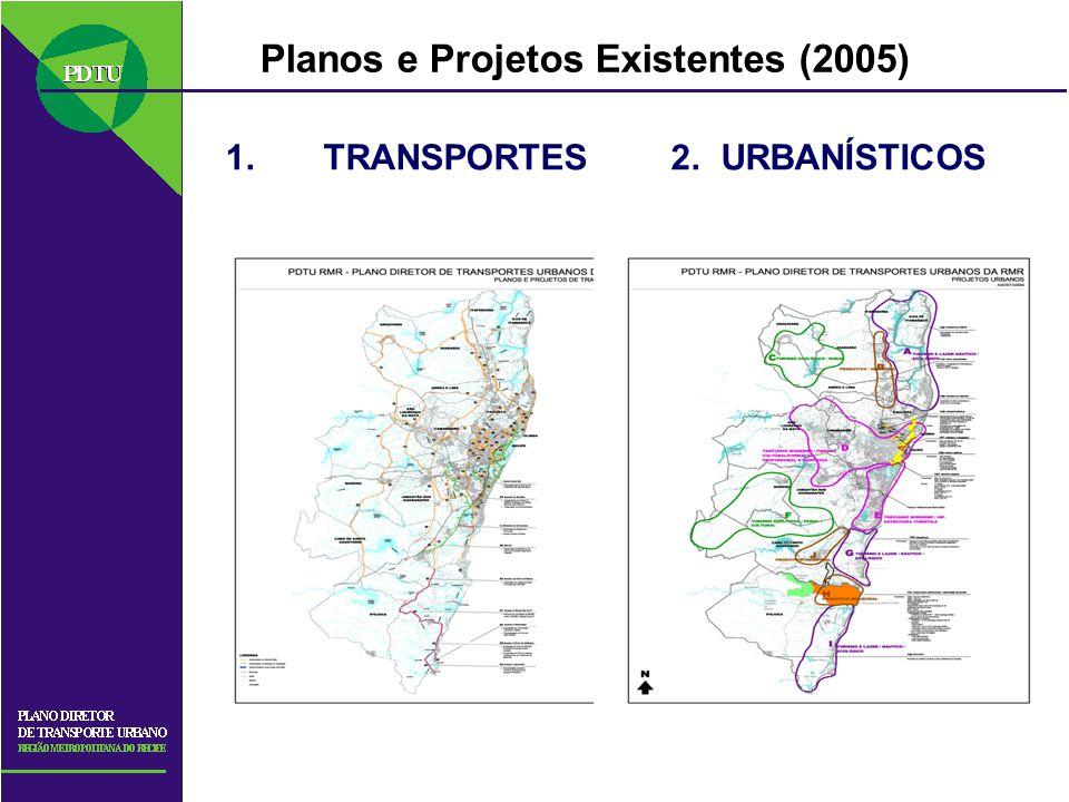 Planos e Projetos Existentes (2005)
