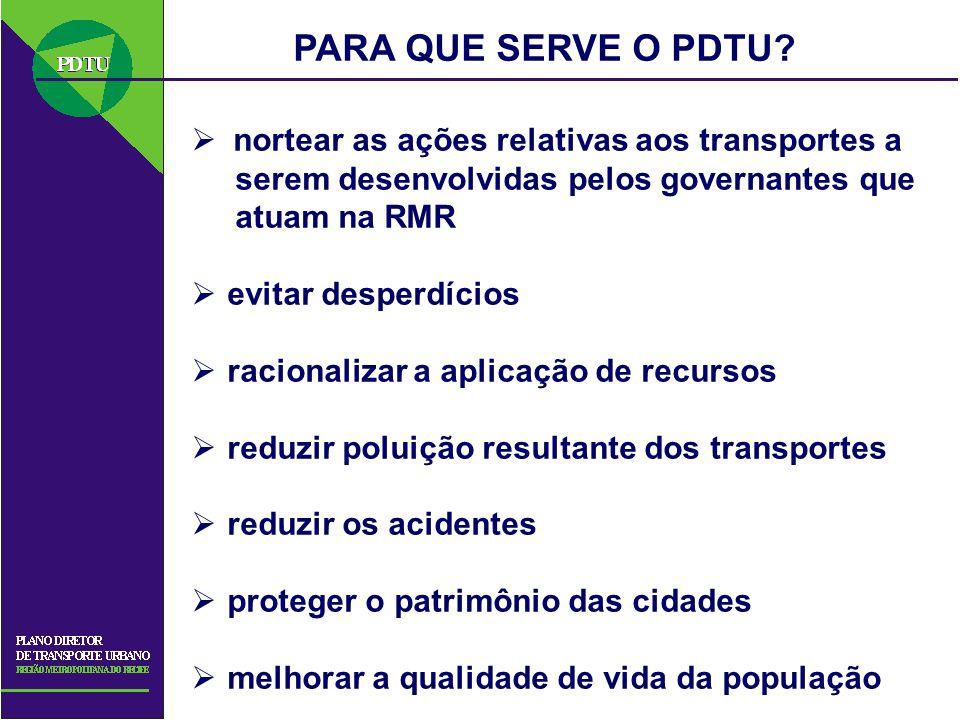 PARA QUE SERVE O PDTU nortear as ações relativas aos transportes a