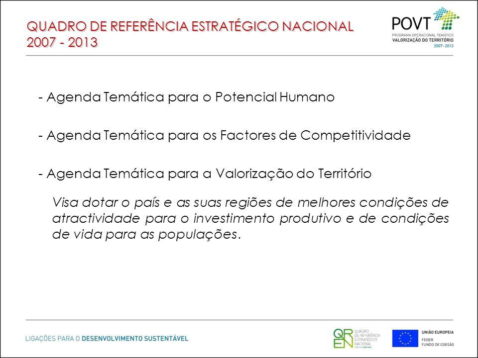 QUADRO DE REFERÊNCIA ESTRATÉGICO NACIONAL 2007 - 2013