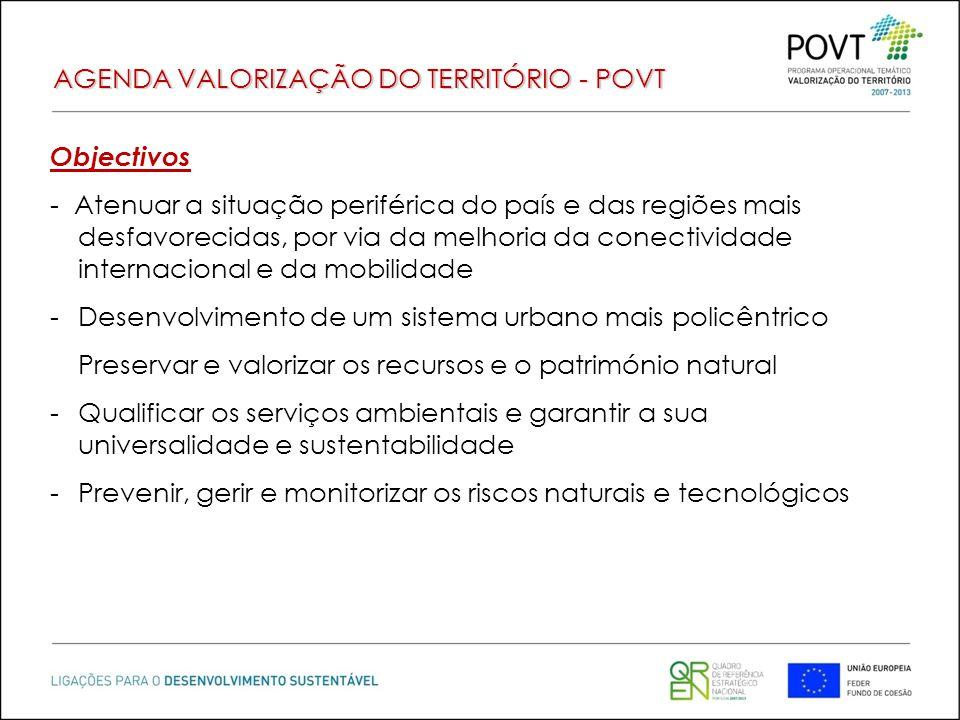 AGENDA VALORIZAÇÃO DO TERRITÓRIO - POVT