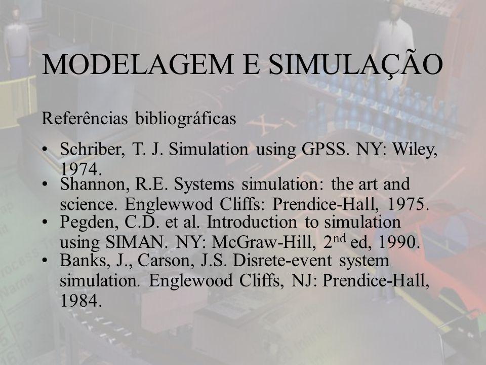 MODELAGEM E SIMULAÇÃO Referências bibliográficas