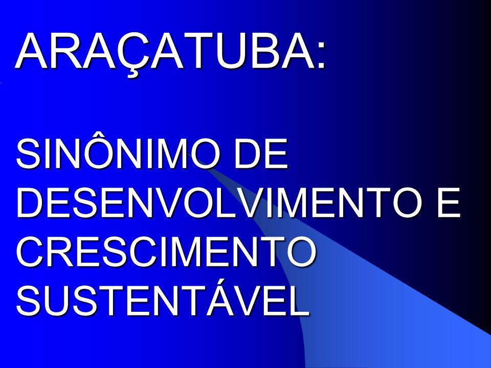 ARAÇATUBA: SINÔNIMO DE DESENVOLVIMENTO E CRESCIMENTO SUSTENTÁVEL