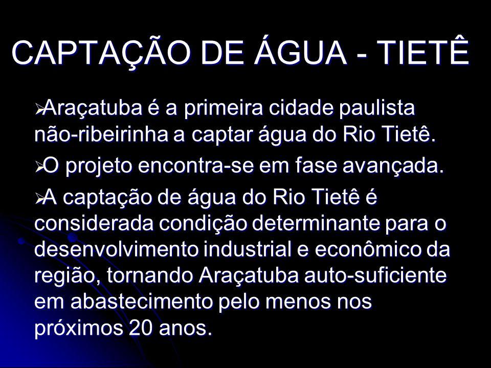 CAPTAÇÃO DE ÁGUA - TIETÊ