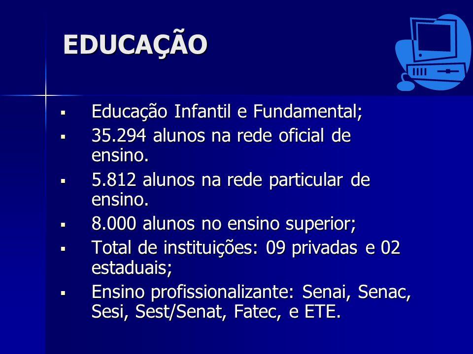 EDUCAÇÃO Educação Infantil e Fundamental;