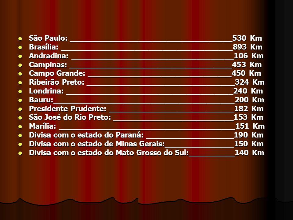 São Paulo: ___________________________________530 Km