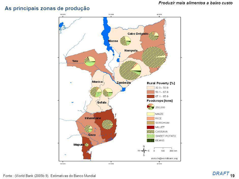Relativamente às culturas tradicionais, em comparação com a África Austral, Moçambique é dos países com mais baixos índices de produtividade.