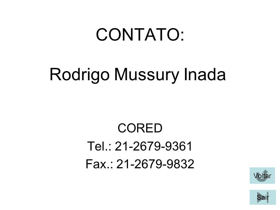 CONTATO: Rodrigo Mussury Inada CORED Tel.: 21-2679-9361